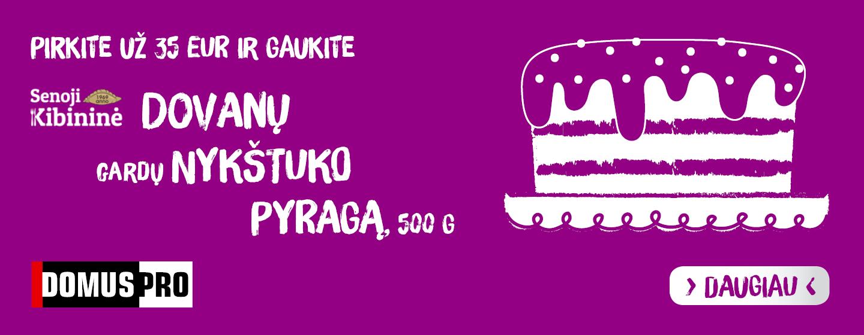 Pirkite už 35 EUR ir gaukite gardų NYKŠTUKO pyragą!