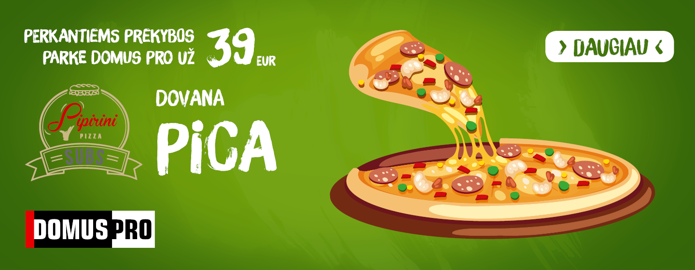 Pirkite už 39 Eur ar daugiau – gaukite picą dovanų!