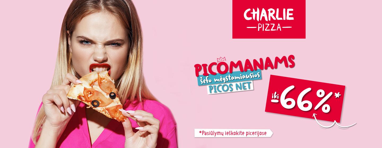PICOMANAMS šefo mėgstamiausios picos net iki -66%!*