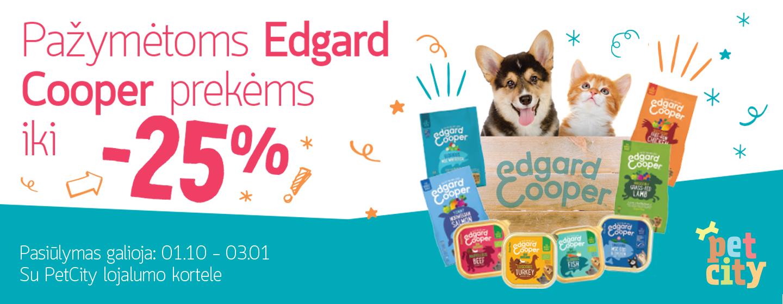 Iki -25% pažymėtam EDGARD COOPER kačių ir šunų maistui