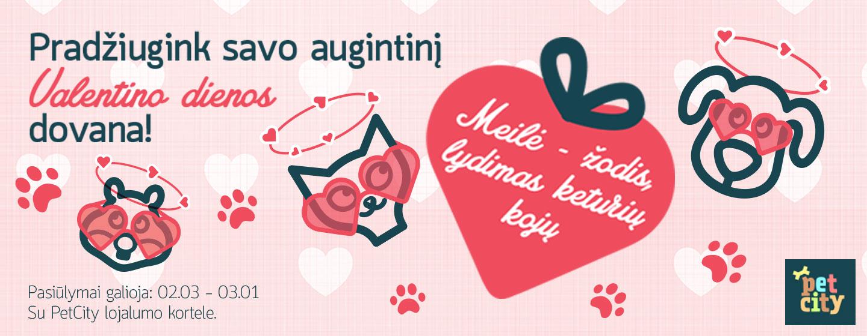 Pradžiugink savo augintinį Valentino dienos dovana kartu su PetCity!